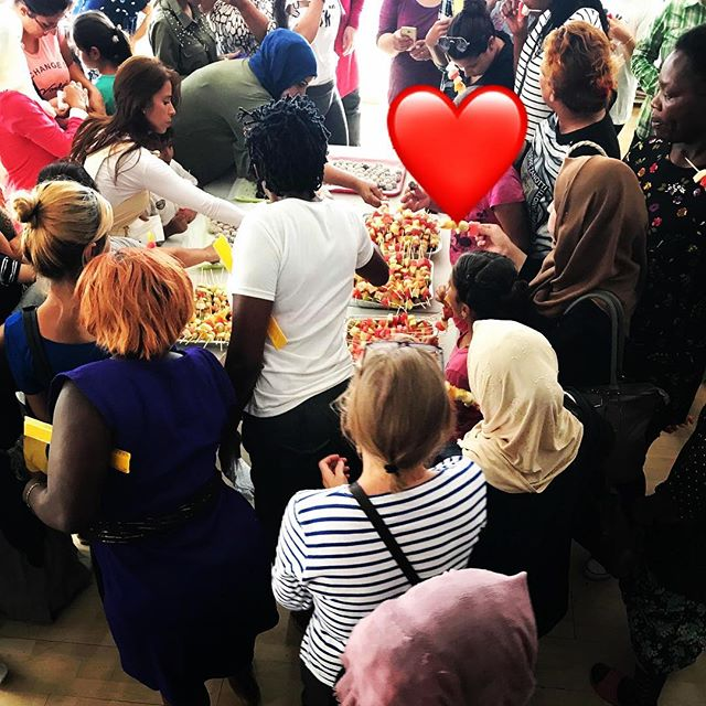 """Nothing- not a conversation, not a handshake or even a hug - establishes friendship so forcefully as eating together."" - Jonathan Safran Foer ————————————— On Saturday afternoon our whole community centre is transformed into a safe space for women (no men allowed 🙅‍♀️), and all sorts of activities are organized and engaged in by up to 80 women from all different ages and backgrounds.. our favorite? Eating and cooking together 🧡💙 ————————————— #humanity #opentheislands #refugeeswelcome #withrefugees #humanitarian #humanity #NGO #refugees #volunteer #volunteering #samosvolunteers #philanthropy #food #eatingtogether #cooking #cookingtogether #samos #greece  #womenempowerment #whoruntheworldgirls #girlsgirlsgirls #foodmatters"