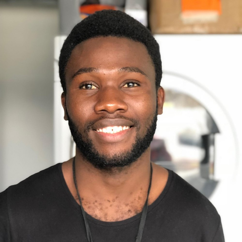"Emmanuel, 25 - Sierra Leone   ""Helping people makes me happy. It's a big part of me. Being here was not my dream. I want to leave so that I can have a better life and help more people around the world."""