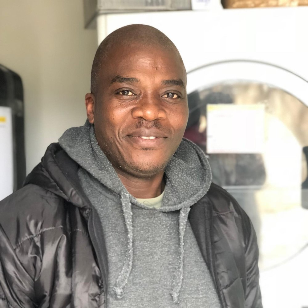"Martin Luther, 40 - Cameroon   ""I engaged with Samos Volunteers to bring my stone to the building, given the support they provide to the most needy. I especially like the laundry because here you can admire the joy of the people served."""