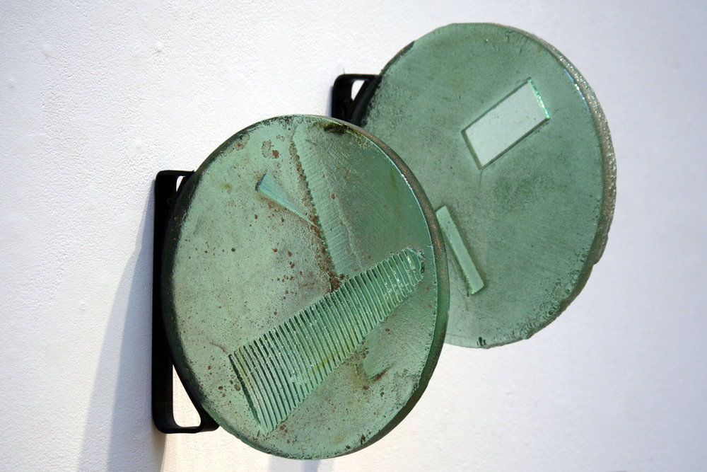 Discs Cast Glass, Steel 2012