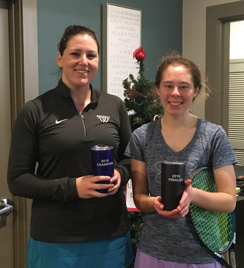 Women's 4.0 Champion Alexandra Lucas and Finalist Avery Zill