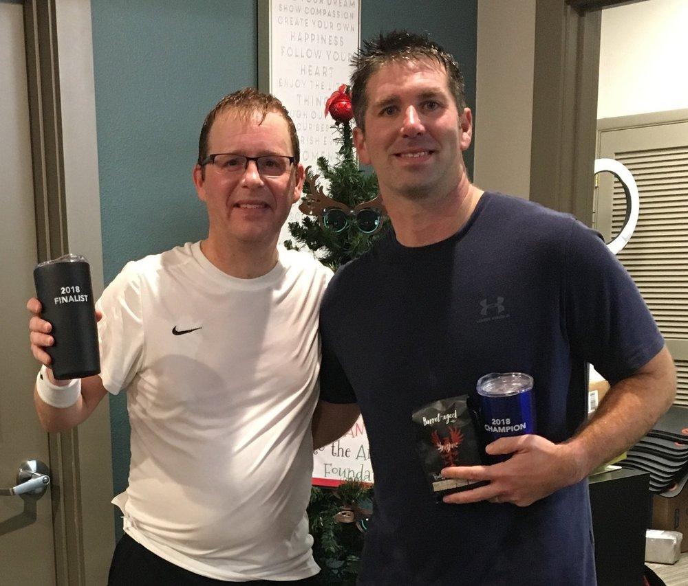 Men's 4.0 Finalist Mike Mietzner and Champion Aaron Hendrickson