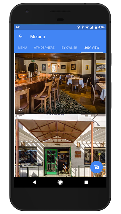Click to view Mizuna Restaurant's 360° tour on Google Maps.