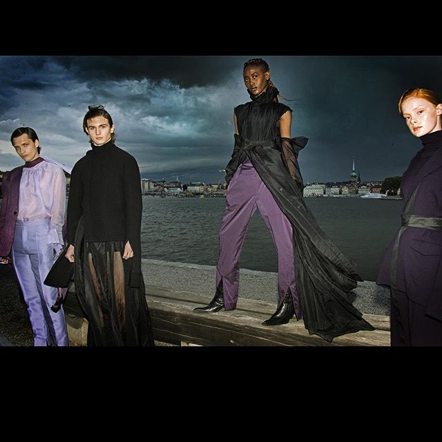 Calm Before The Storm. LANDEROS NEW YORK IN STHLM Show captured by @richardryandecuevas Models @emillennstrand @lukas00an @zarabedel Klara K. Styling @sarahniklasson Hair @rogermorganalexius Makeup @makeupartistfilippasmedhagen Casting @juliuspoole #foryourconsideration #remix #retrospective #reimagine #stockholmfashionweek #stockholm #voguerunway