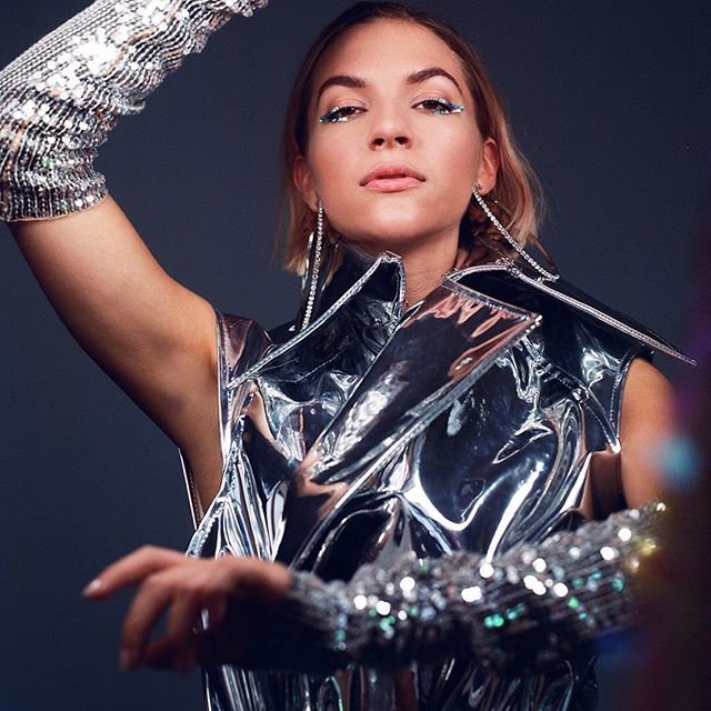 Sing Blue Silver. Stunning Swedish Pop Artist @tovestyrke wears @landerosnewyork Silver Mirror Sleeveless Trench Coat for @wonderland Magazine. Ph @jasperegan Stylist @willyumbeck Beauty @meghannguy #cfda #genderlessfashion #genderisdead #madeinnyc #mirror #newromantics #silver #duranduranreference