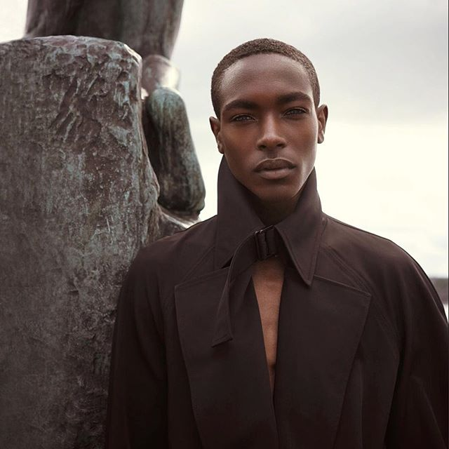 LANDEROS LOVES STHLM. Handsome @shar1f__ for @riskmagazine in the latest NY RAIN TRENCH COAT by @landerosnewyork available online soon. Ph @paveldenisenko Stylist @colinmanderson Grooming @makeupartistfilippasmedhagen #cfda #genderlessfashion #genderisdead #madeinnyc #sthlm #sweden #ganymede #mikasstockholm