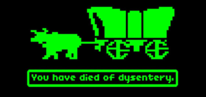 Oregon trail then...