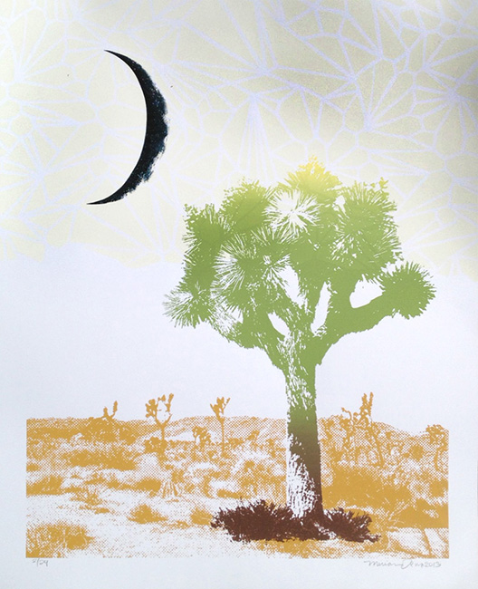 """Joshua Tree Moon"" Limited Edition Screen Print"