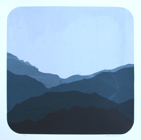 """Mountains 1"" Limited Edition Screen Print"