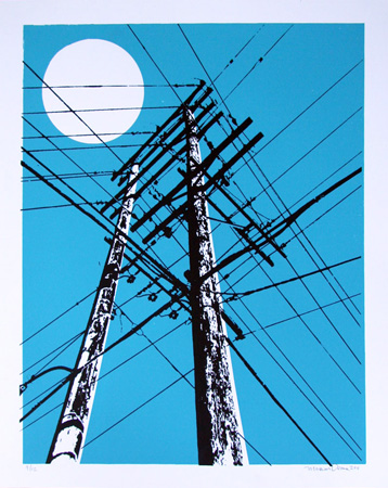 """Power Lines"" Limited Edition Screen Print"