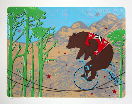 """Balancing Act - Bear"" Limited Edition Screen Print"