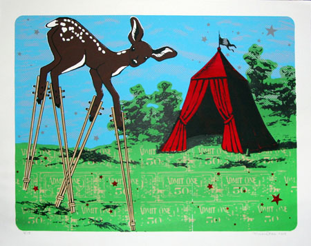 """Balancing Act - Deer"" Limited Edition Screen Print"