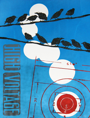 """Birds On A Line"" Limited Edition Screen Print"