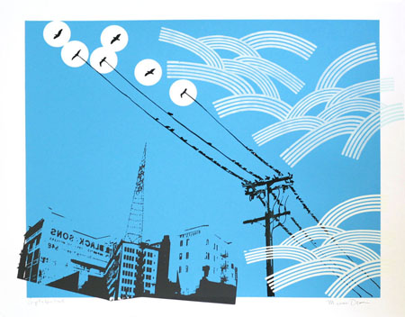 """Los Angeles Skyline"" Limited Edition Screen Print"