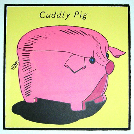 """Cuddly Pig"" Limited Edition Screen Print"