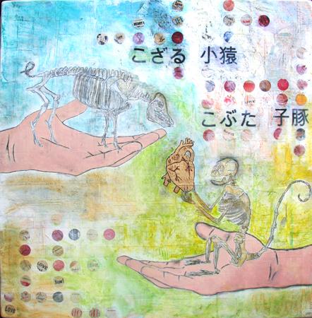 """Monkey Pig"" Painting"