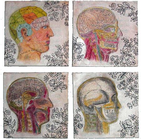 """""""Skulls & Vines"""" Painting"""
