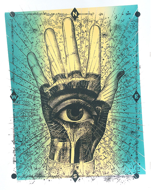 """All Seeing"" Limited Edition Screen Print"