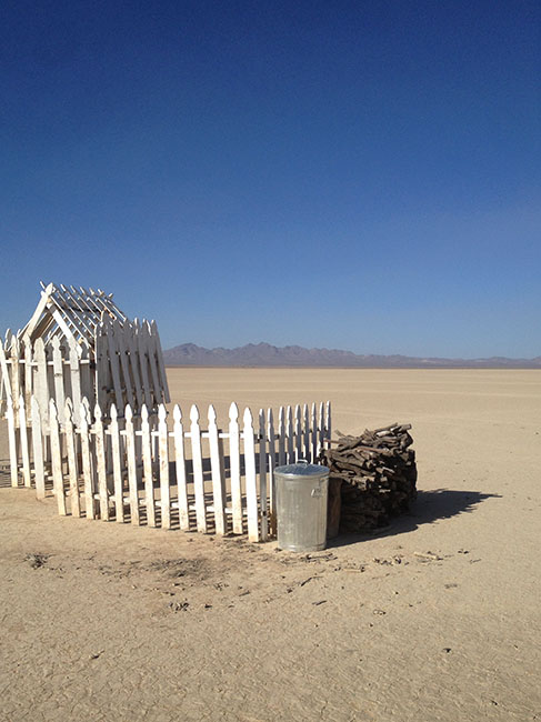 """Picket House - Side View"" Desert Installation"