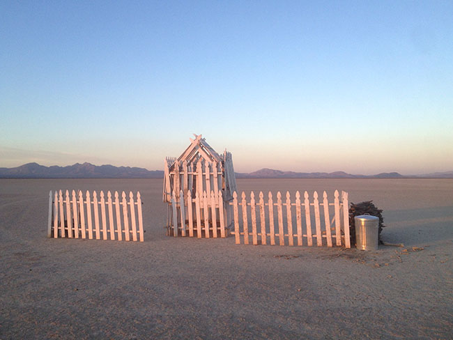 """Picket House - Sunset"" Desert Installation"