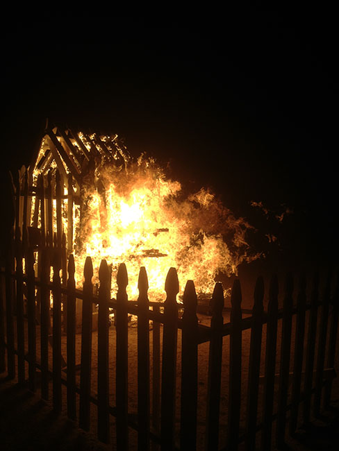 """Picket House - Burn It Down"" Desert Installation"