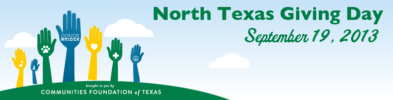 North Texas Giving Day banner graphic