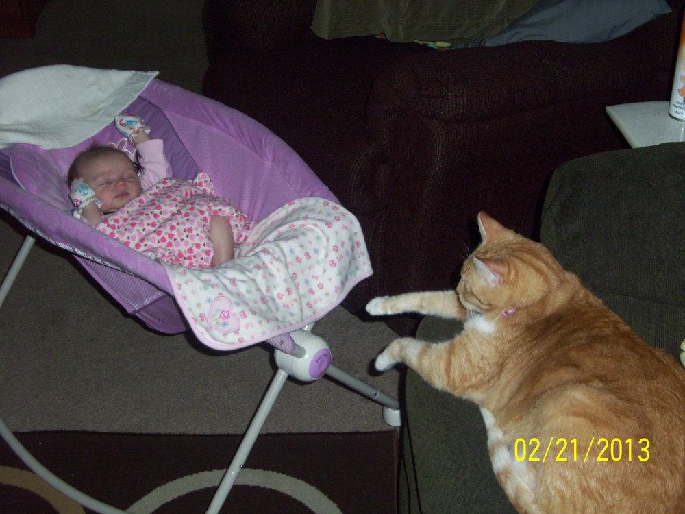 Dakota and a newborn baby
