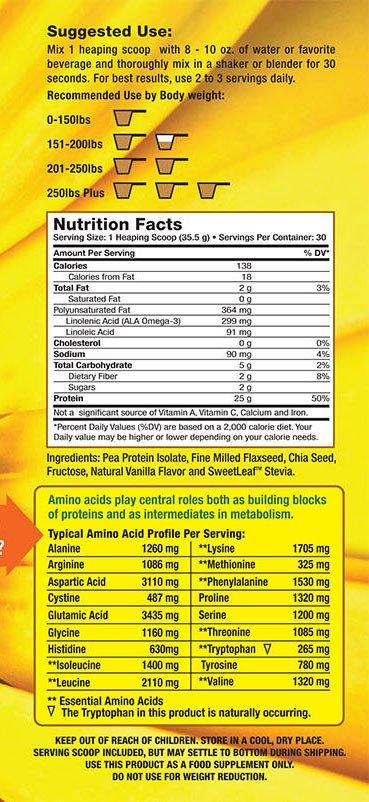 NHR Pure Vegan Pea Protein