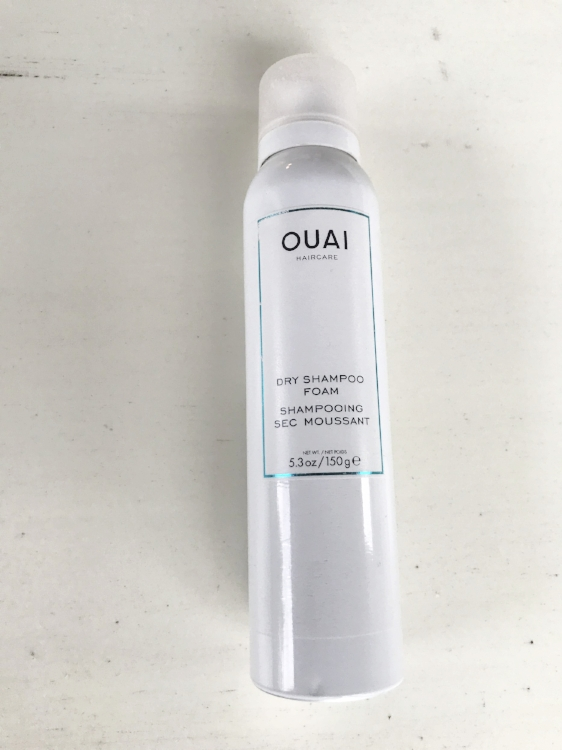 DRY SHAMPOO - One of Ouai's newest innovative products, this dry shampoo foam is basically a shower in a bottle. With a golfball sized amount of product you massage the foam into your scalp to give the illusion of fresh hair. The scent of Ouai products are also unbeatable. I picked mine up from Sephora for $28.