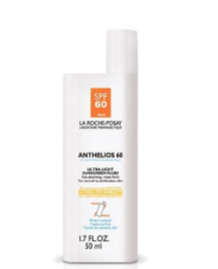 LA ROCHE-POSAY - Last--but certainly not least--we have La Roche-Posay's Anthelios 60 Ultra Light Sunscreen Fluid! This sunscreen has a lightweight finish and is great for all skin types. It is fragrance and oil free, absorbs quickly, and doesn't feel heavy on your face! It's gotten many awards for its all-around fantastic features, go check it out! Your face will thank you :).