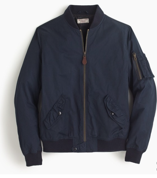 A simple everyday jacket - he can throw on top of almost any outfit. This J.Crew bomber is a timeless staple that should find itself in every cool guy's  wardrobe. It's super light weight material makes it perfect for layering.