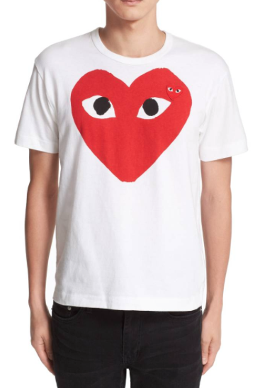 Show him the love - with a cute statement shirt from Comme des Garcons.