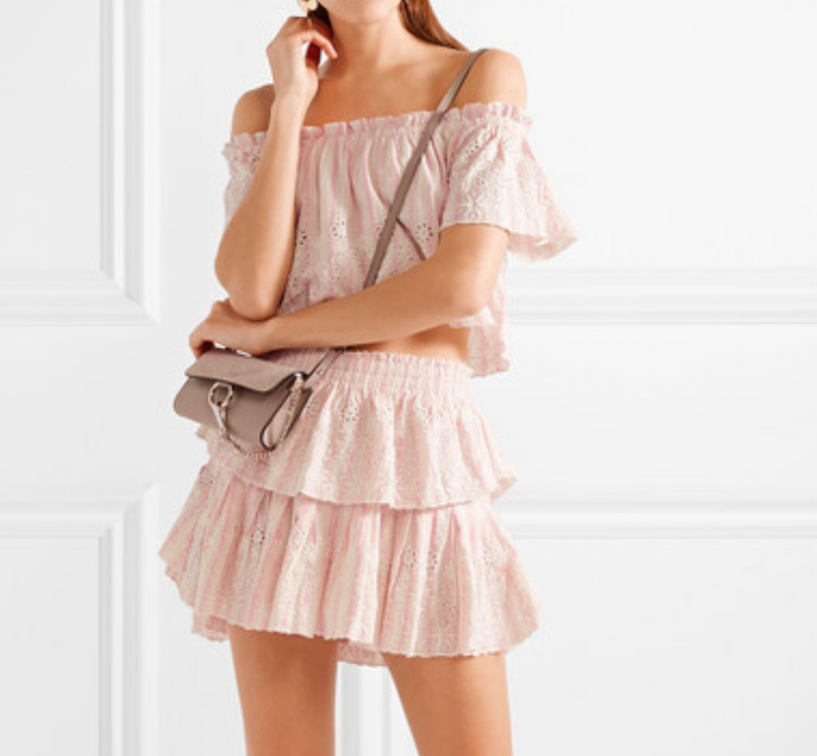 LoveShackFancy Ruffled Mini Skirt - $225