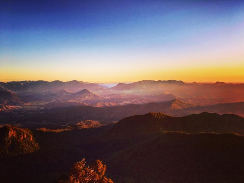 View of sunrise from the top | Mt Warning, New South Wales