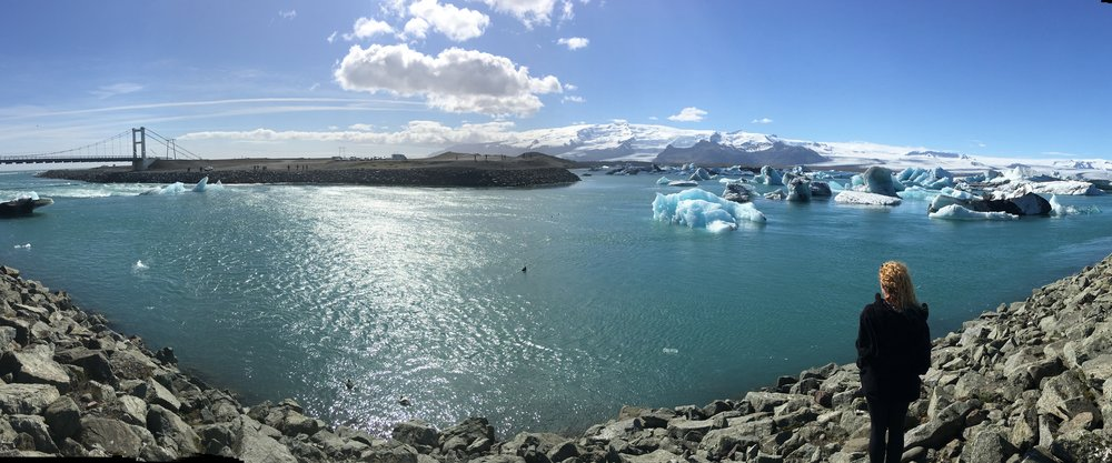 This is where I was an hour before receiving the message about Jesse   Glacier Lagoon, Iceland
