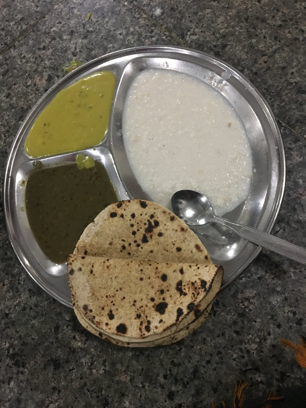 Meal offered at the Golden Temple