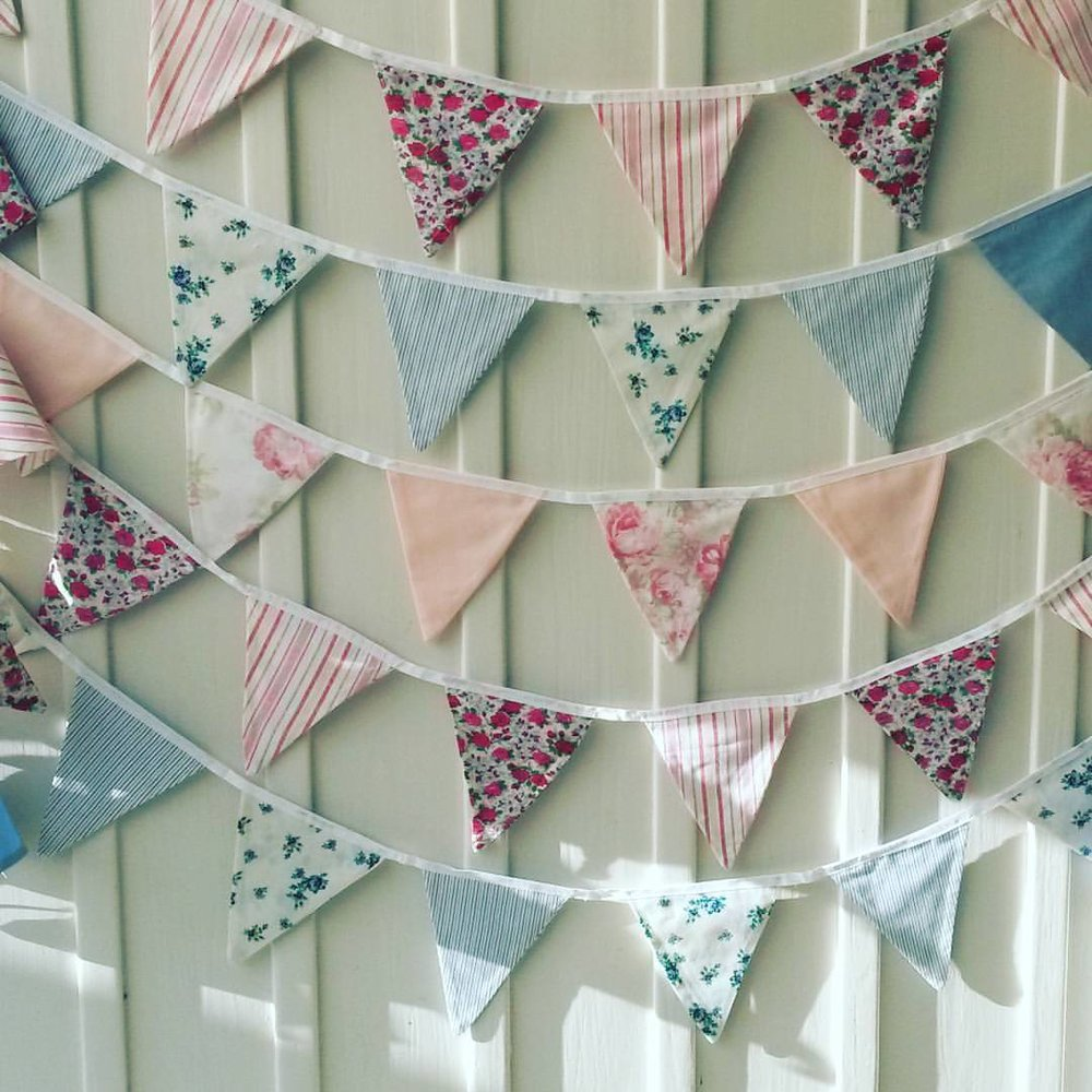 Bunting - Made with upcycled fabric
