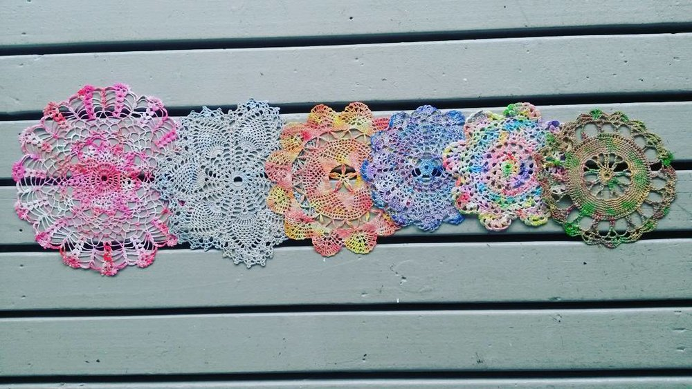 Hand painted doilies - to frame or be made into dreamcatchers, each one unique