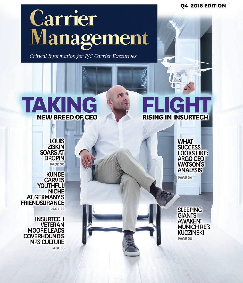 Founder Louis Ziskin featured on the Quarter 4 cover of Carrier Management Magazine 2016.