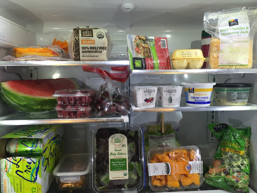 Fill your fridge with the good stuff. -