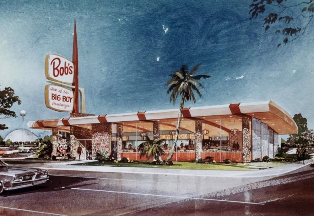 1959 prototype design for Bob's Big Boy, Armet and Davis Architects. From Armet, Davis and Newlove archives