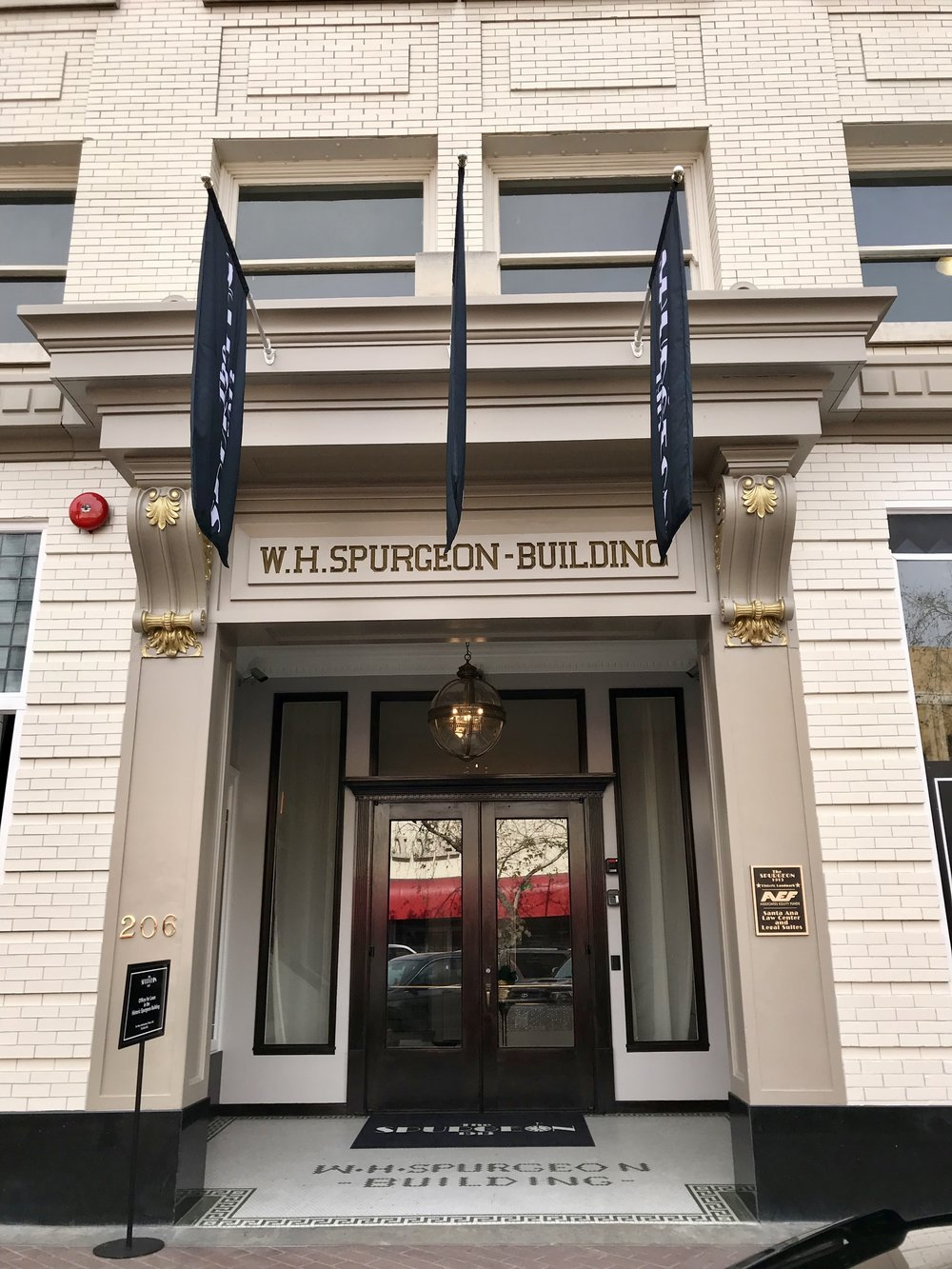 Grand entrance at 206 W 4th