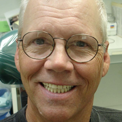 Properly fitted dentures.