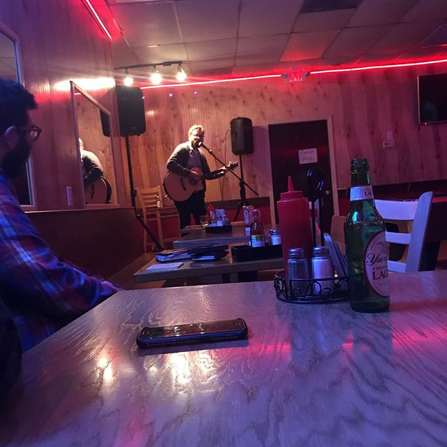 @matmillner destroying at the Sloppy Poppy's open mic