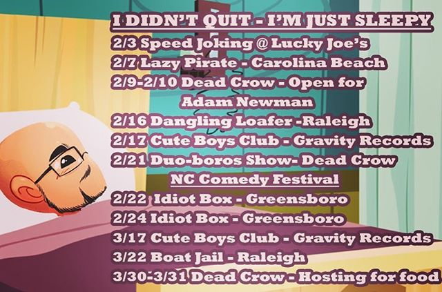 Troy's got some dates coming up. Go see him be silly.
