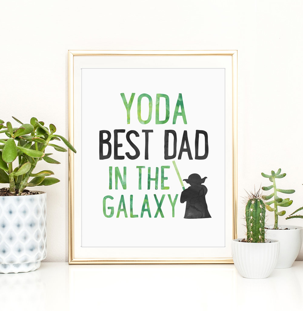 dunestudio, etsy shop, yoda dad, star wars poster