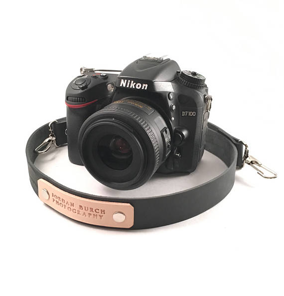 nikon, leather camera strap, personalized camera strap, photography gift