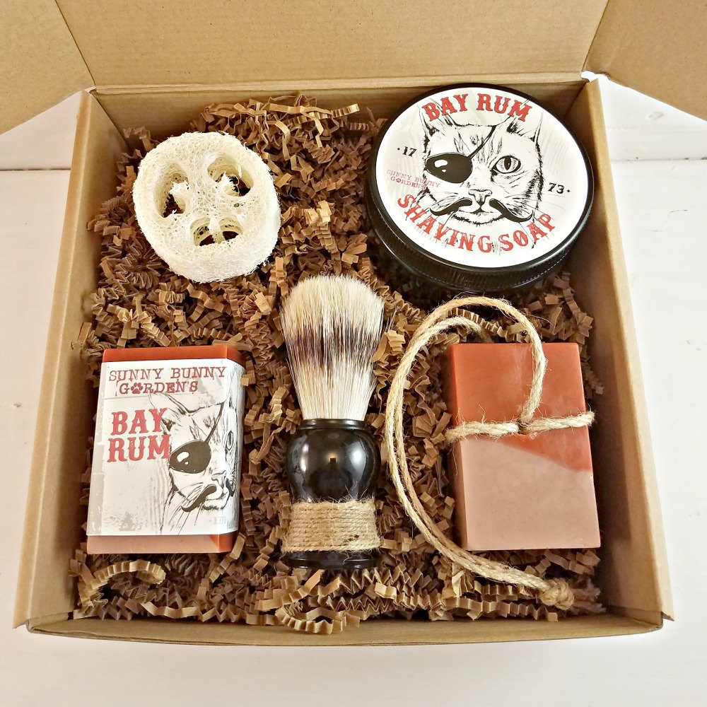 all natural shave kit, etsy seller, loofah, shave brush, shave set, soap on a rope, vegan, cruelty fre