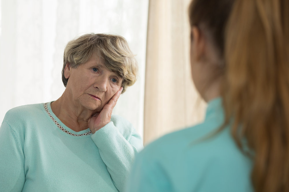 Widow depressing due to loss of husband