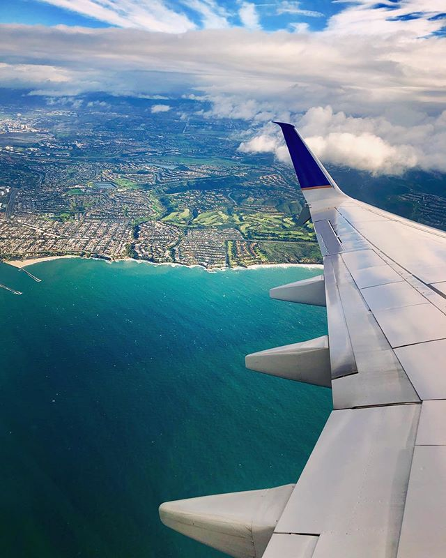 Heading to Houston to shoot SS19 campaign. Beautiful post-rain view of Newport Beach on the ascension. #worktravel #fashionphotographer #viewfromtheplane